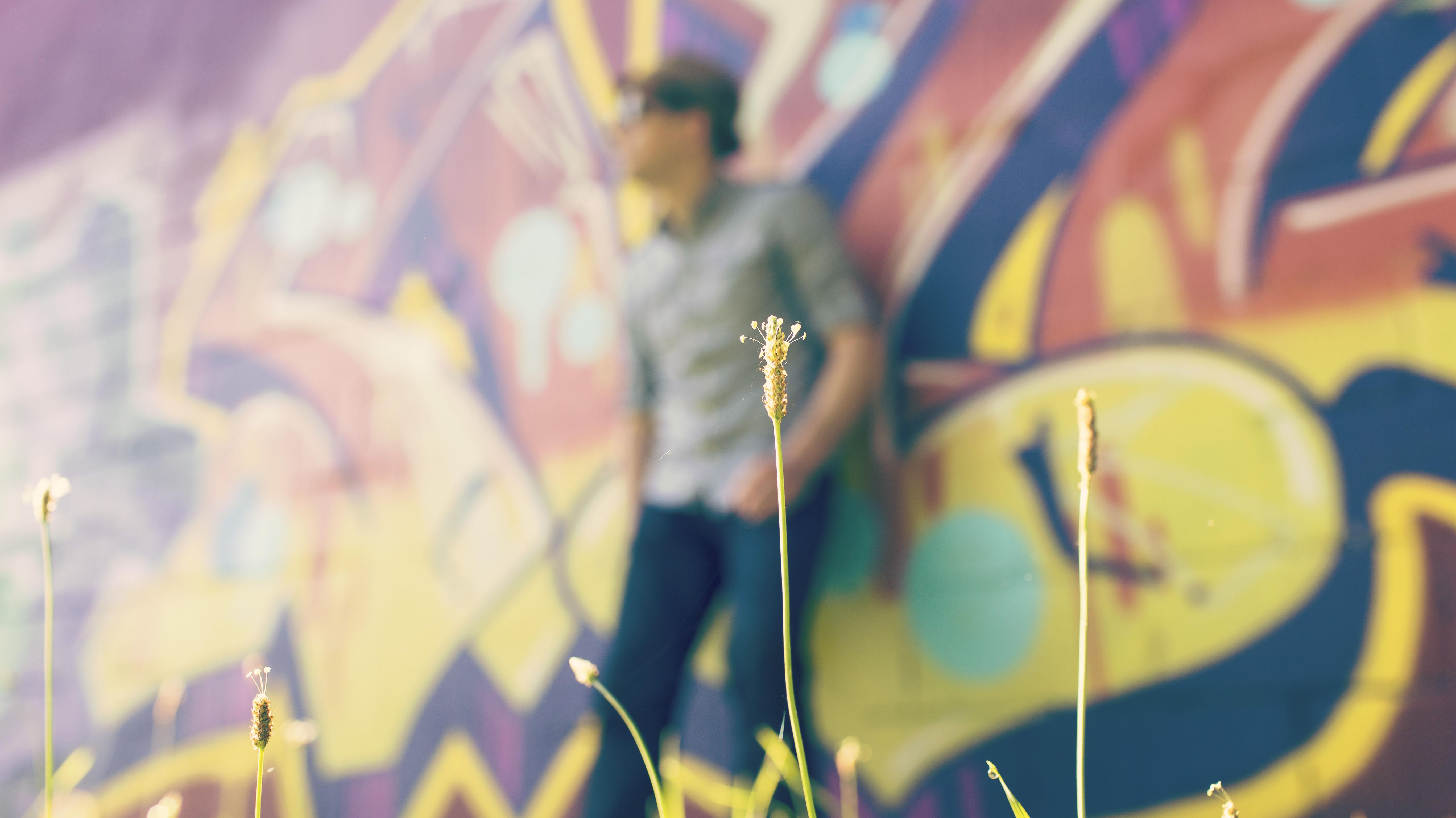 Voorbereidingen voor graffiti kunstwerk