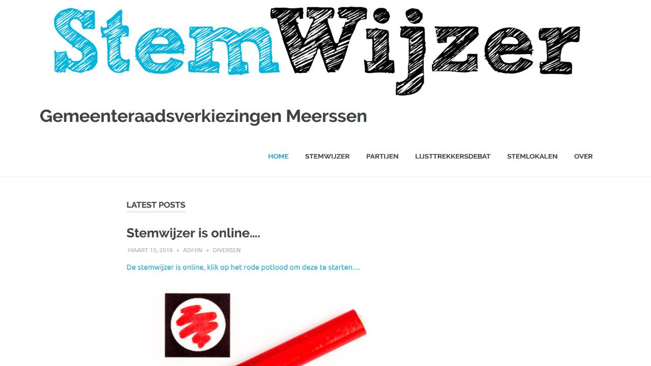 Stemwijzer voor Meerssen online