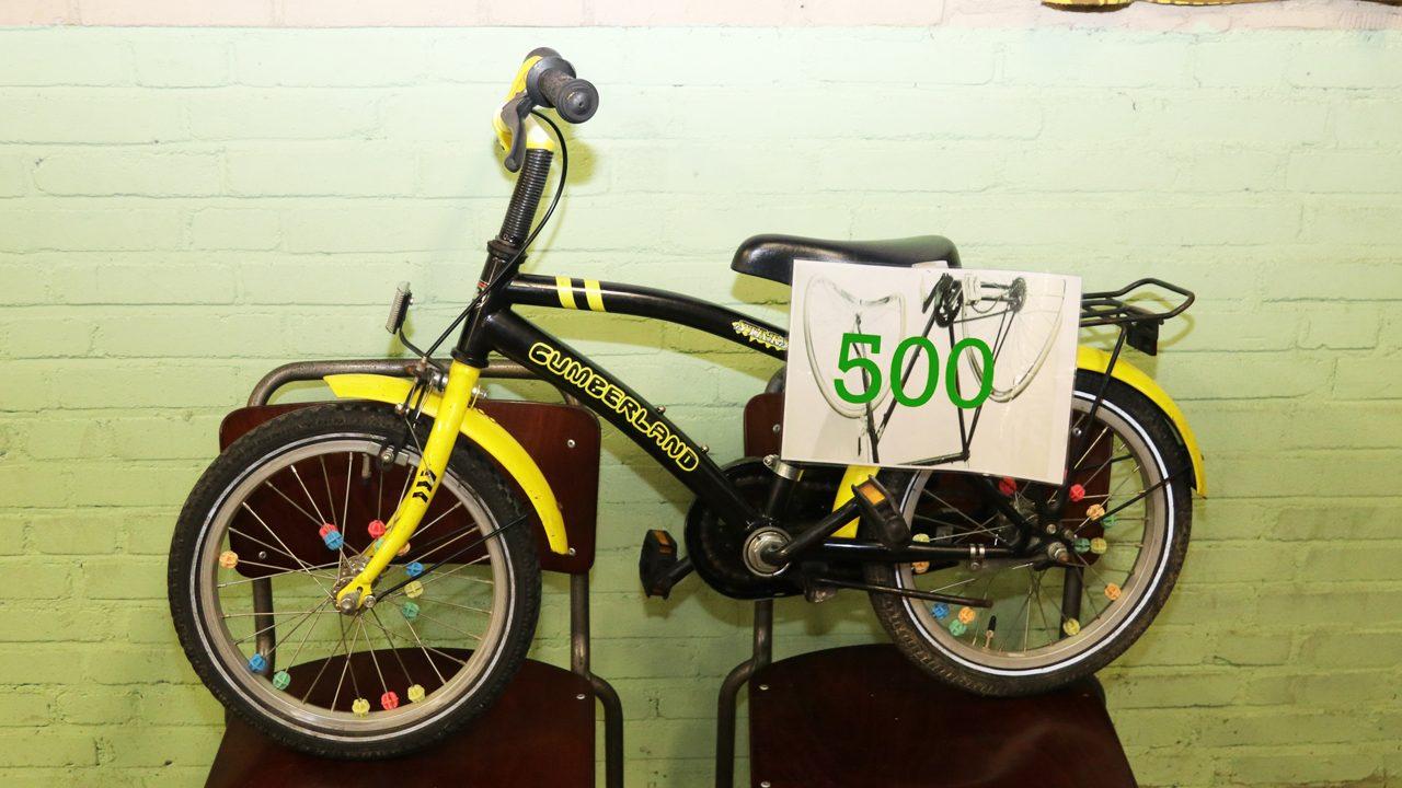 Vijfhonderste fiets Ruggesteun