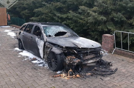 Autobrand in Rothem