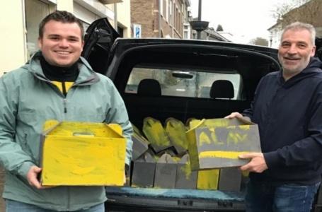 SV Meerssen doneert derde helft pakketten aan Stichting Ruggesteun