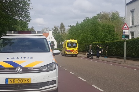 Scooterrijder gewond bij botsing Tussen de Bruggen