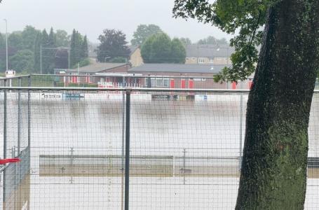 Beelden Rothem: RVU en Geulhof overspoeld door water